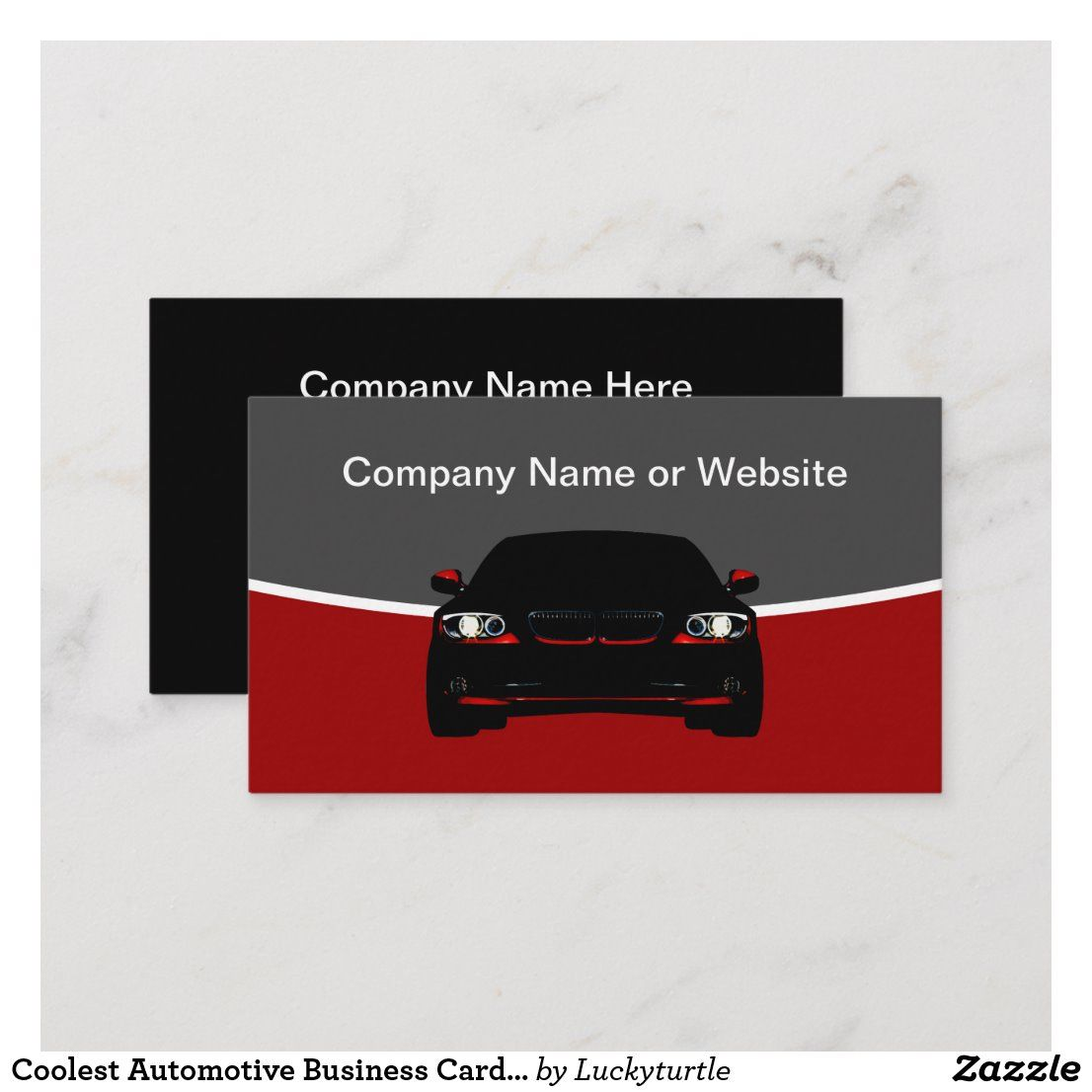 Coolest automotive business card template in