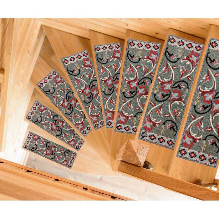 Best Baynes Modern Design Non Slip Rubber Backed Gray Stair 640 x 480