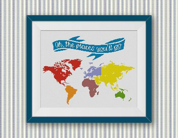 Bogo free world map cross stitch pattern oh the places youll go world map cross stitch pattern oh the places youll go cross stitch chart low poly geometric modern decor pdf download 022 gumiabroncs Images