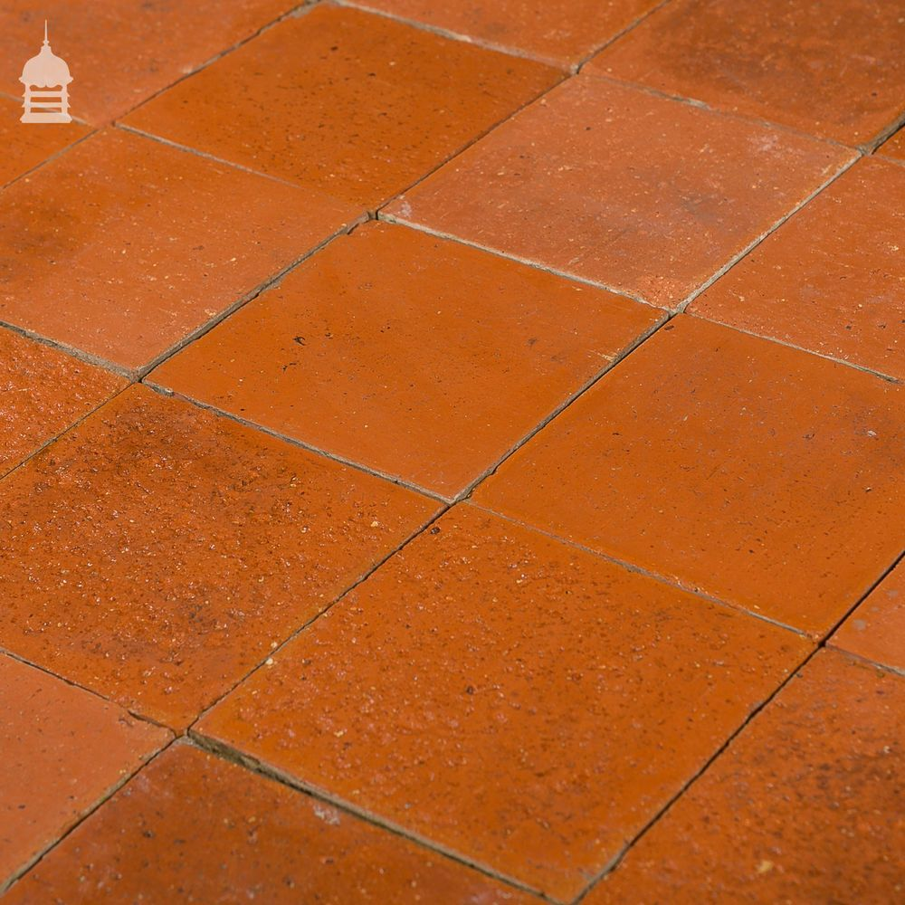 Reclaimed 6x6 Thin Red Quarry Tiles 6 Inch X 6 Inch Floor Tiles