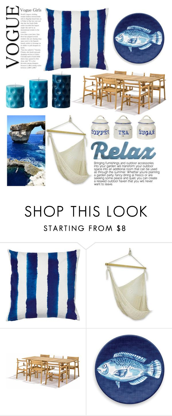 """""""Summer Outdoor Dining"""" by burpy ❤ liked on Polyvore featuring interior, interiors, interior design, home, home decor, interior decorating, NOVICA, Skargaarden, Thos. Baker and June2016"""