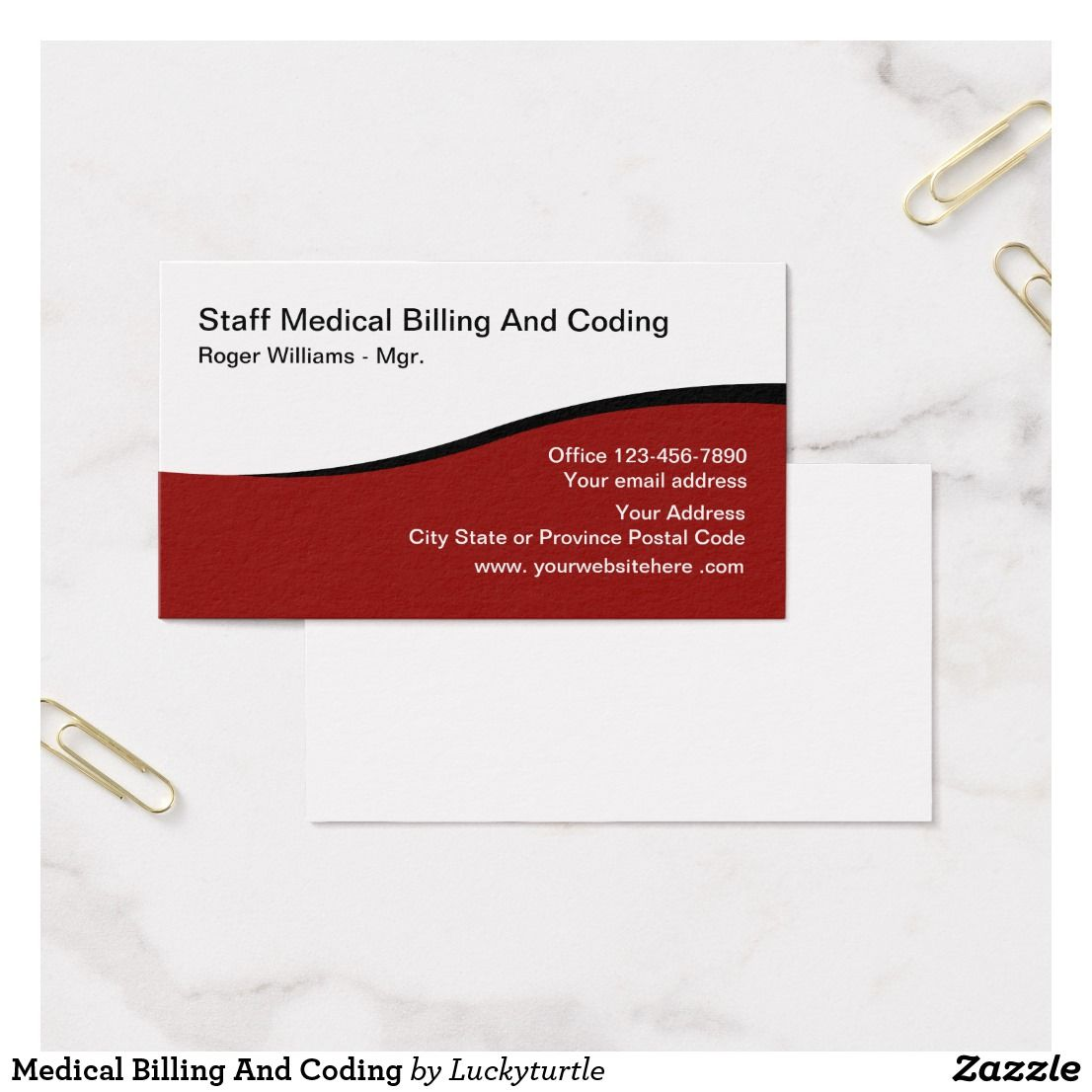 Medical Billing And Coding Business Card   Business cards