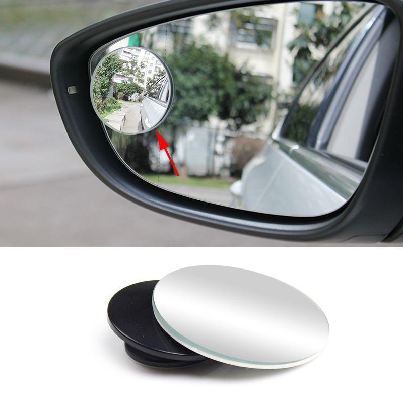 סטיילינג רכב 1 Pc ברור מראה אחורי מכונית 360 מסתובב בטיחות חניה קמור עגול זווית רחבה כתם עיוור אביזרי Rear View Mirror Car Blinds Safety Mirror
