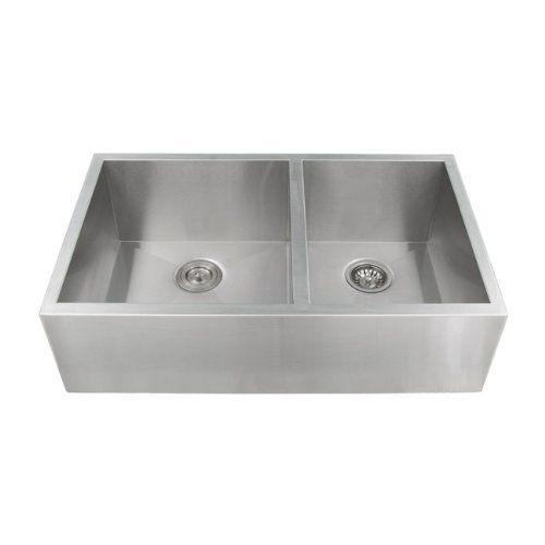 Ticor Stainless Steel 16 Gauge Apron Undermount Kitchen Sink