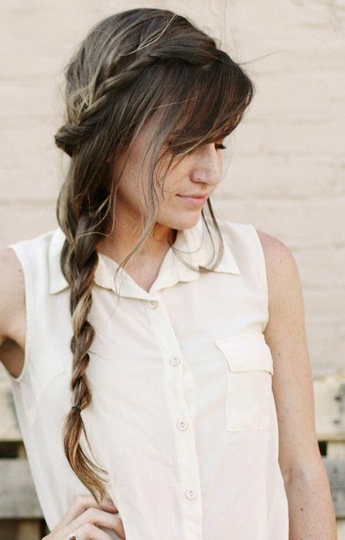 20 Elegante Side Braid Peinados Para El Pelo Largo Peinados