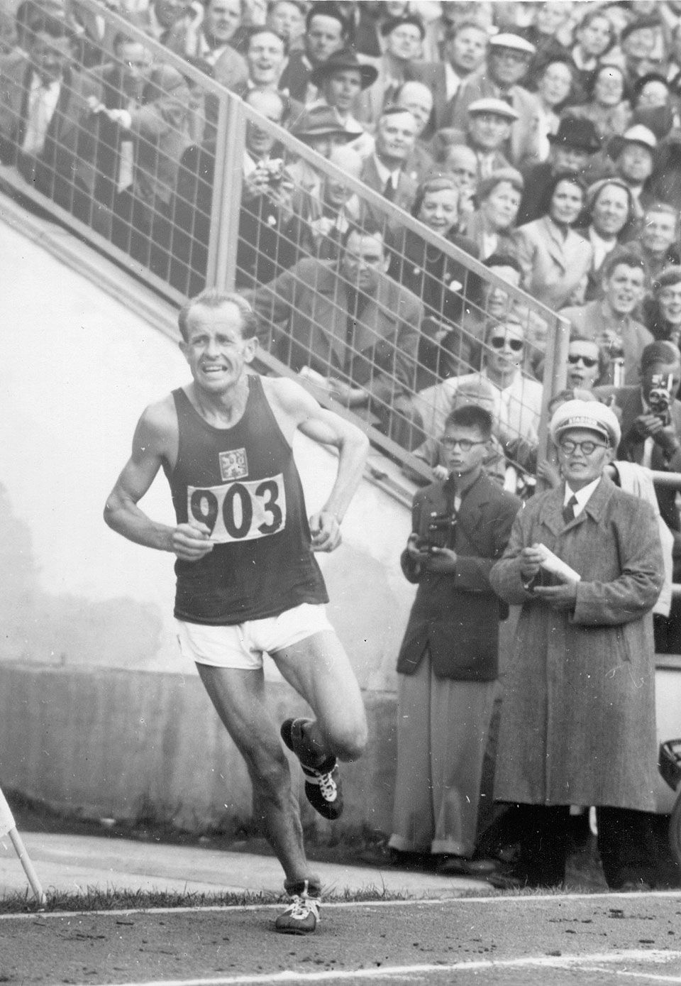 Emil Zátopek, only person to win the 5000m, 10,000m, and