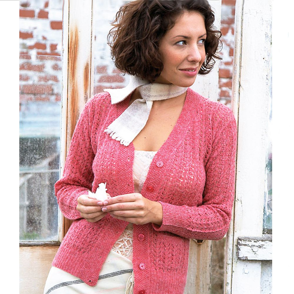 Wrap Up In This Retro Lace Cardigan | Knitting patterns, Patterns ...