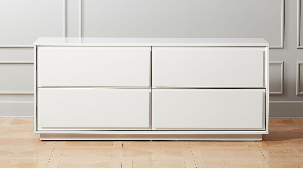 Narrow Leg 4 Drawer Dresser White Modern Contemporary Bedroom Furniture Narrow Dresser Contemporary Bedroom Furniture
