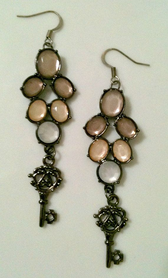 valerie's key  earrings by scandaliciousjewelry on Etsy, $13.00