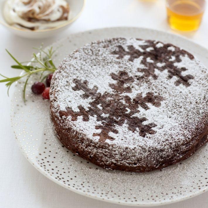 Fallen Chocolate Souffle With Armagnac Prunes