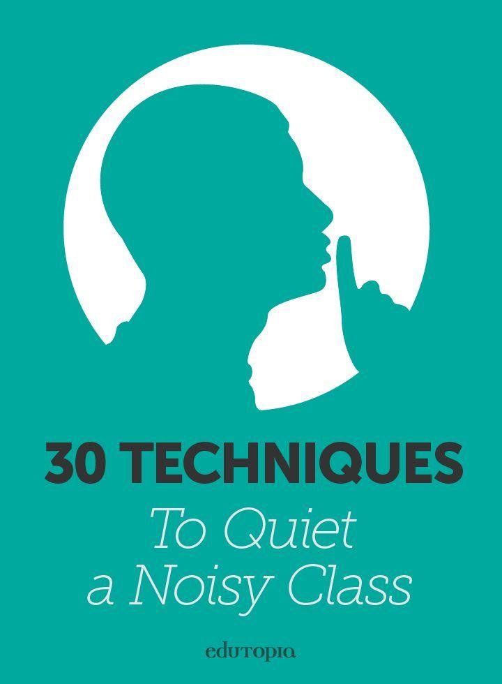 30 Techniques to Quiet a Noisy Class Art classroom