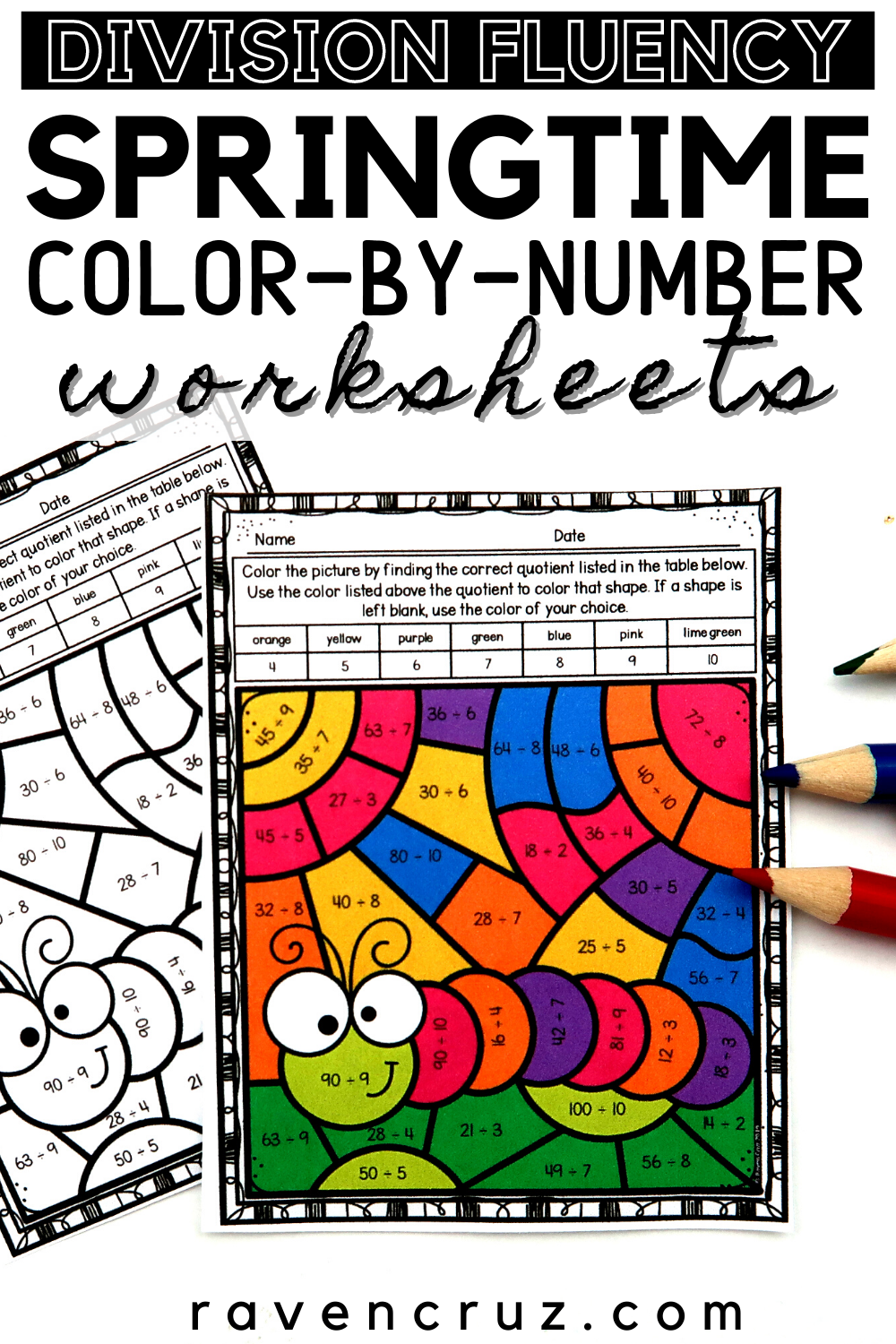 Spring Math Division Color By Number Worksheets In 2021 Math Division Spring Math Elementary Math Centers [ 1500 x 1000 Pixel ]