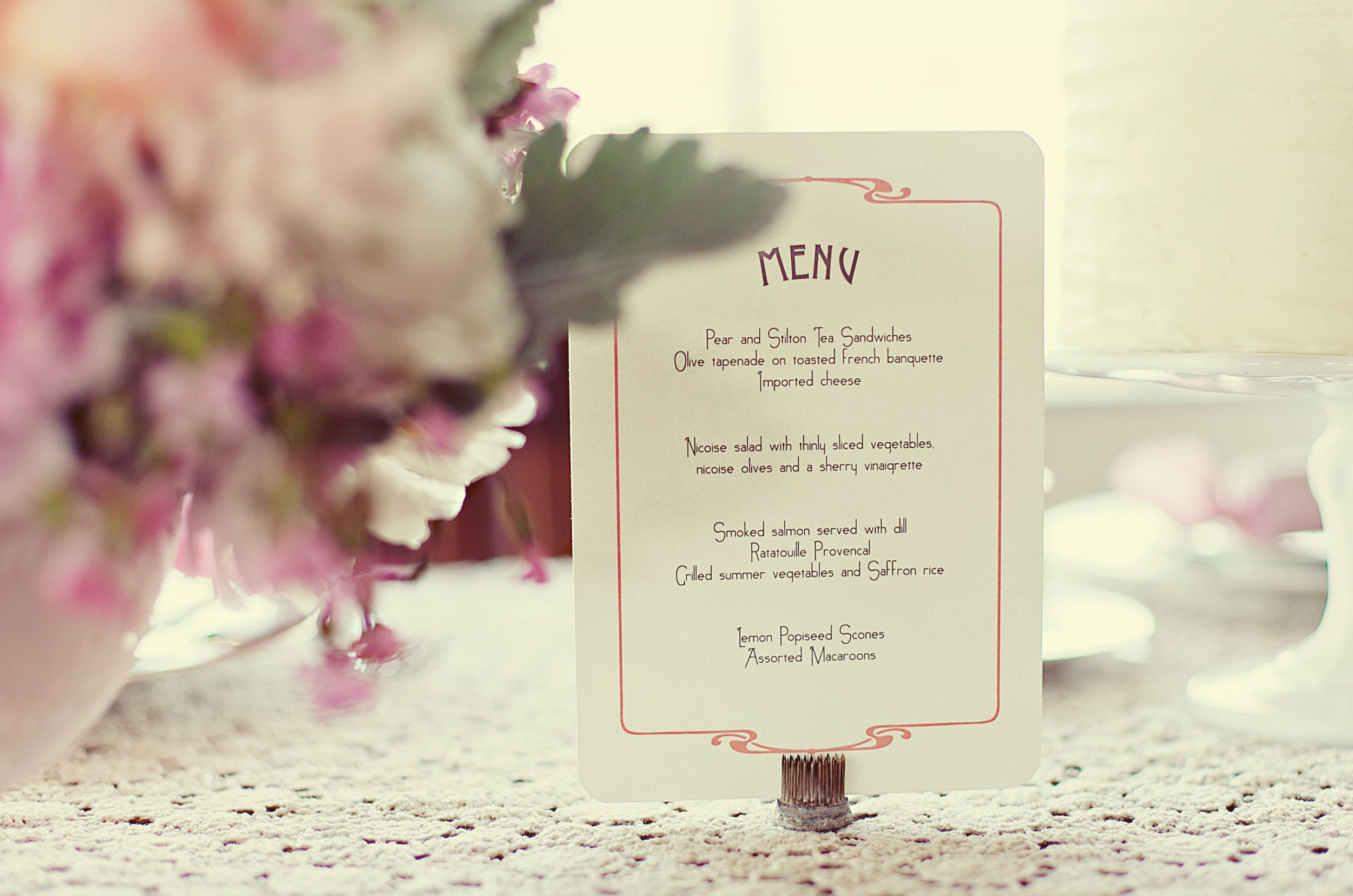 The Great Gatsby vintage wedding paper menu. Daisy, Jay, 20\'s theme ...