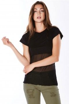 Stay cool & trendy during the heat in this mesh bodied crop top.