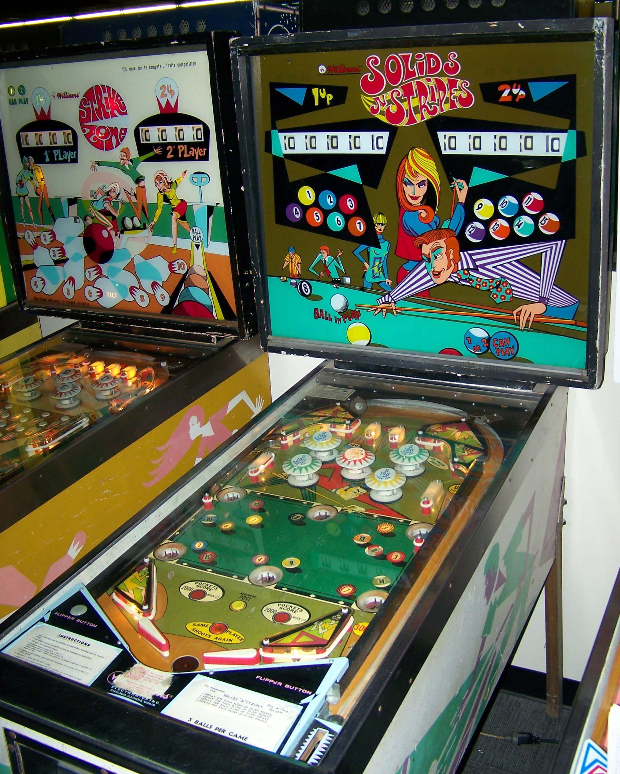 1971 Solids N Stripes Williams Pinball Machine Pinballs De Los Anos 30 A Los 70