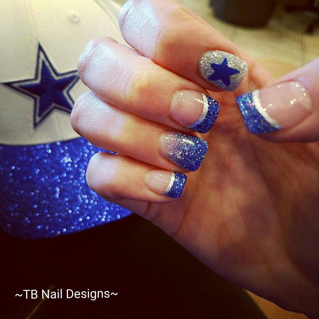 Dallas Cowboys Nails!! Let\'s go boys!!⭐ #cowboysnation #wedemboys ...