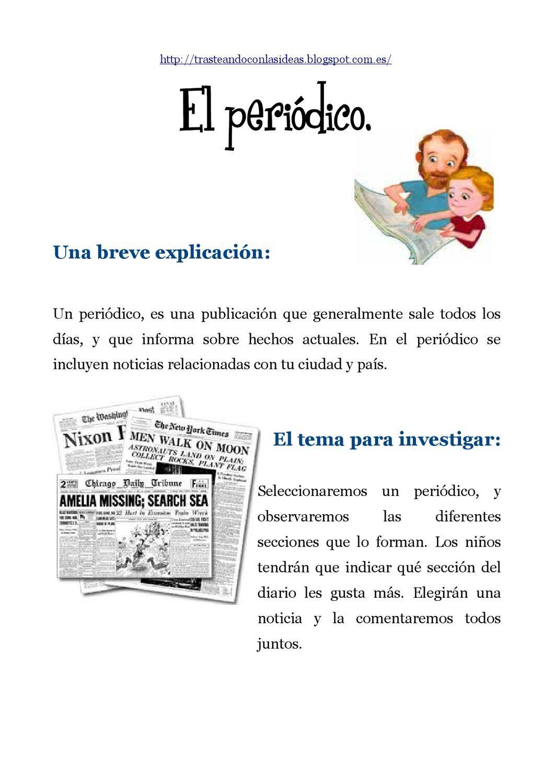 Actividades Para Trabajar Un Periódico Portadores De Texto Elementos De La Comunicacion Actividades Del Alfabeto En Preescolar