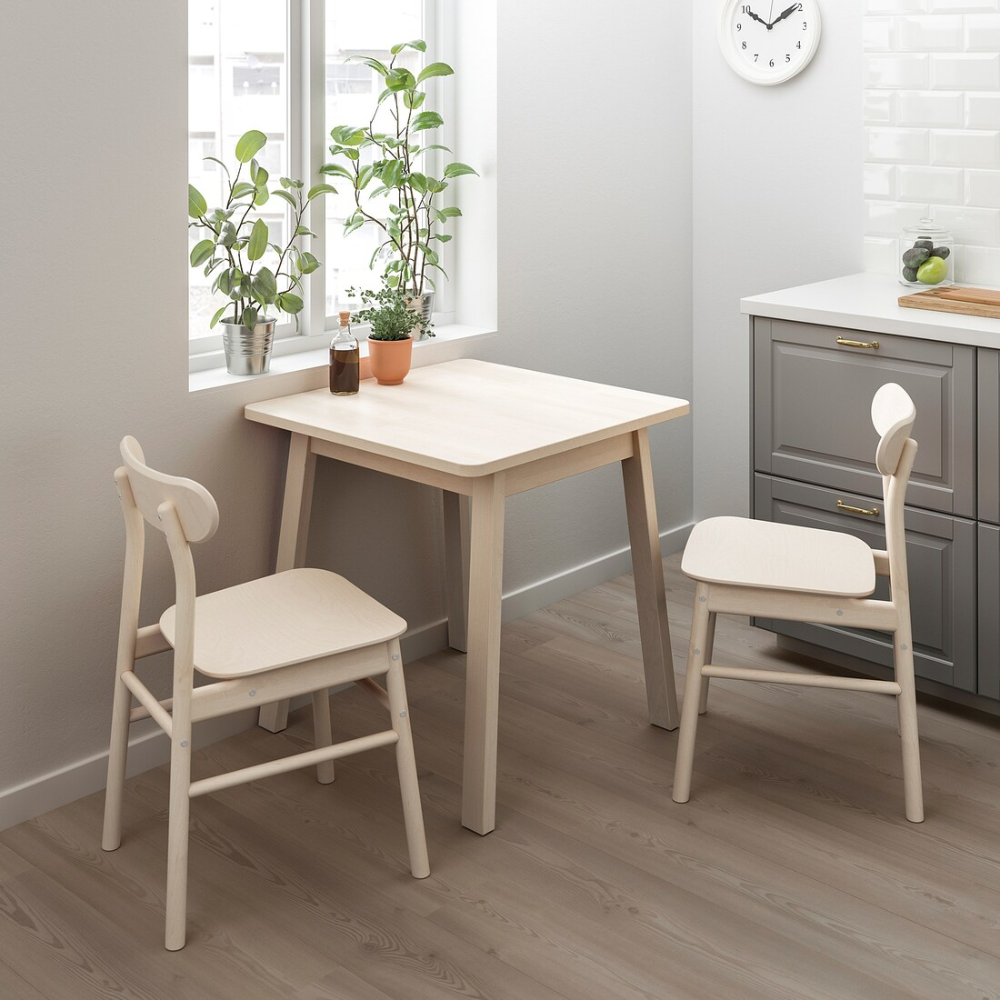 norrÅker table birch  ikea  small table and chairs