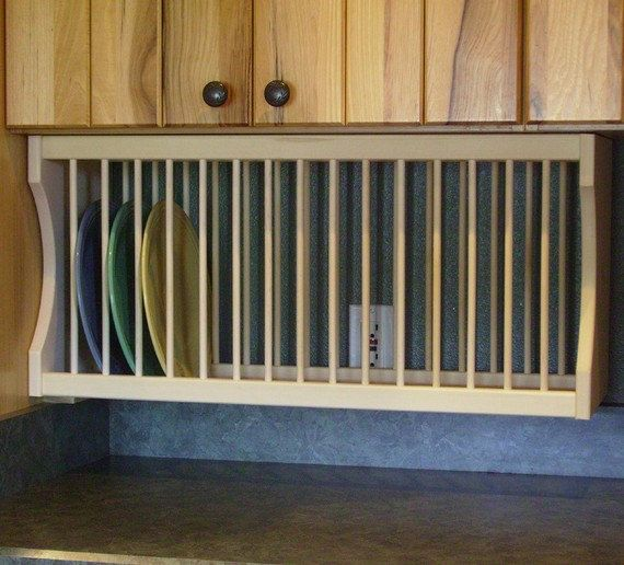 Under Cabinet 16 Plate Rack By Nicoletwoodproducts On Etsy 95 00 Cabinet Plate Rack Plate Racks Redo Kitchen Cabinets