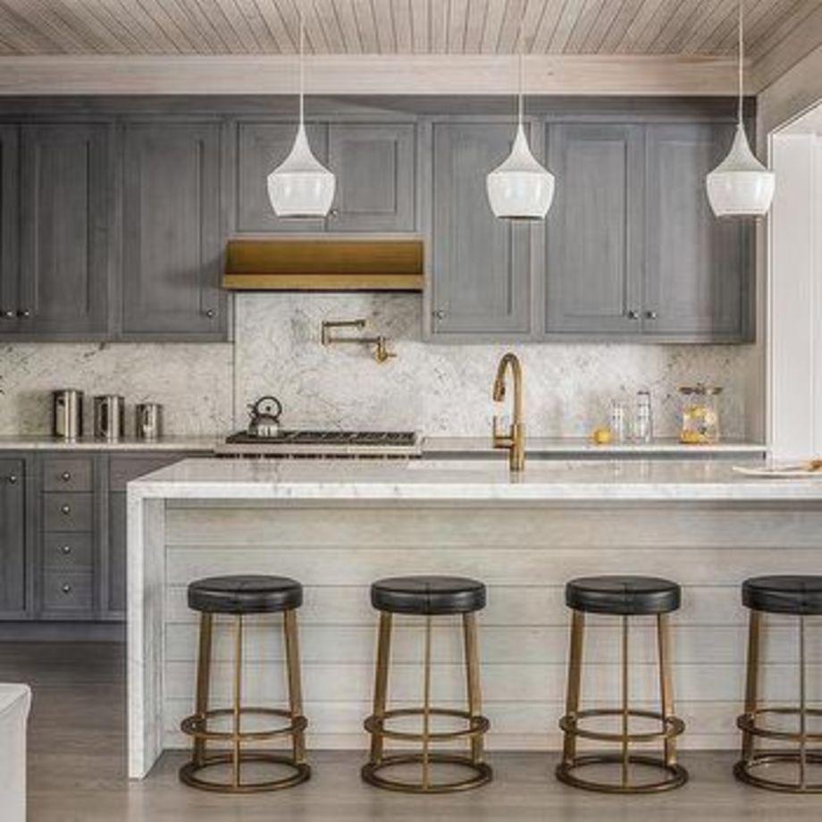 43 Stunning Grey Wash Kitchen Cabinets Ideas Roundecor Transitional Kitchen Design Kitchen Remodel Trends Transitional Kitchen