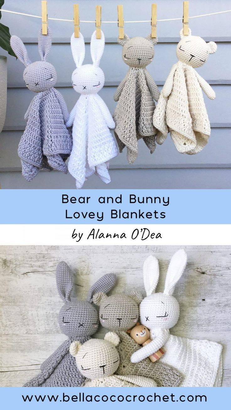 Sleepy Baby Bear and Bunny Lovey door Alanna O'Dea - breien is net zo eenvoudig als ... #knittedtoys