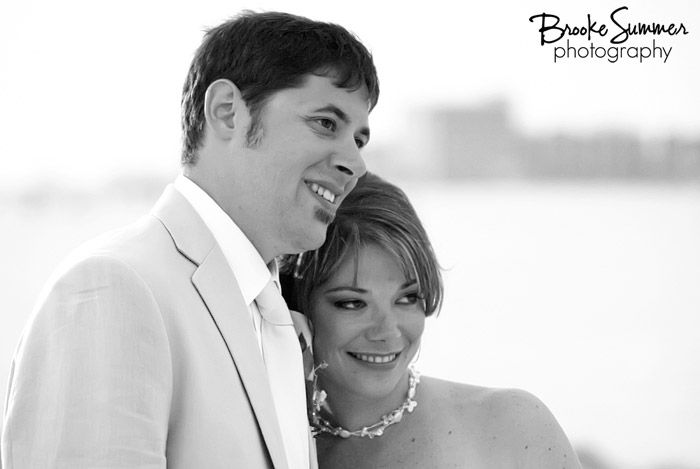 Beach wedding bride and groom http://www.brookesummer.com Brooke Summer Photography