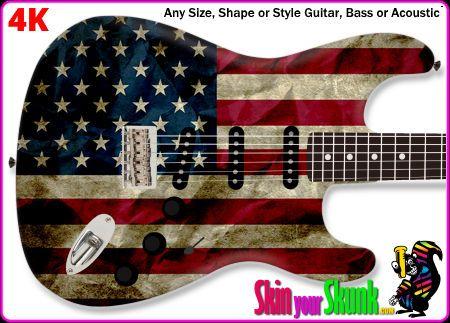 Buy Guitar Skin Flag Wrinkle Guitar Custom Guitar Buy Guitar