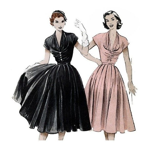 Butterick 6300 Vintage 50s Misses\' Dress Sewing Pattern found on ...
