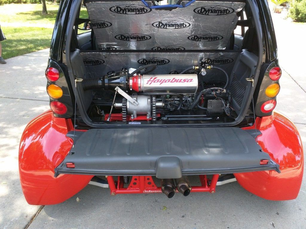 Smart Car Engine >> Smart Fortwo Smartacus With A Hayabusa Inline Four Smart Car
