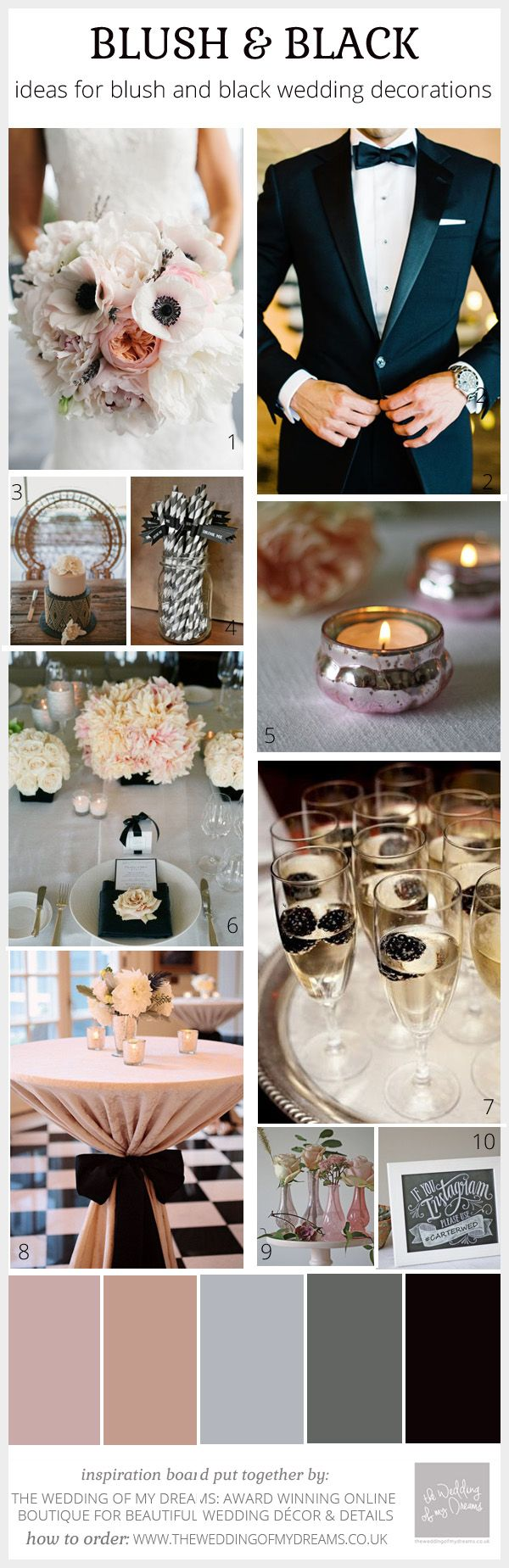Blush pink black wedding ideas decorations and inspiration why not have your dream 20162017 luxury wedding in north cyprus with over 20 yrs planning management experience we can make your dream a reality junglespirit Choice Image