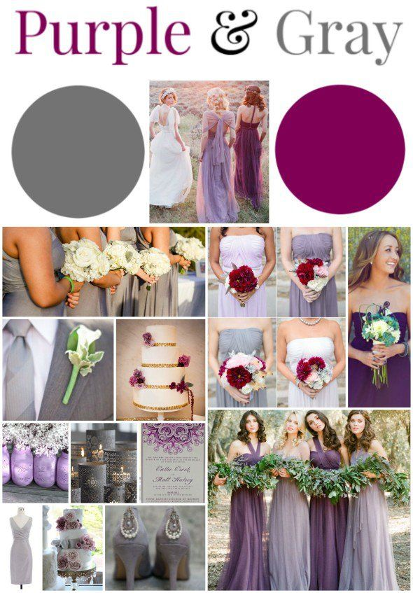 Purple Gray Wedding Ideas Fall Wedding Colors Rustic Wedding