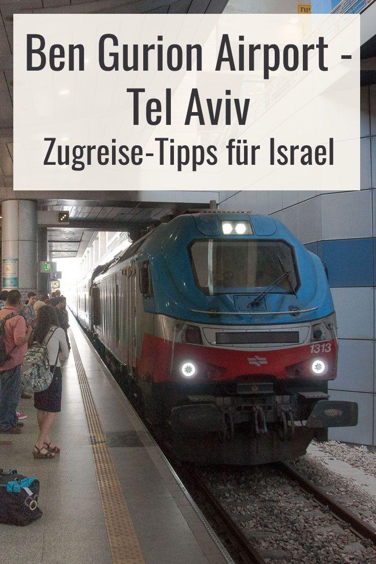 Mit dem Zug vom Ben Gurion Flughafen nach Tel Aviv und