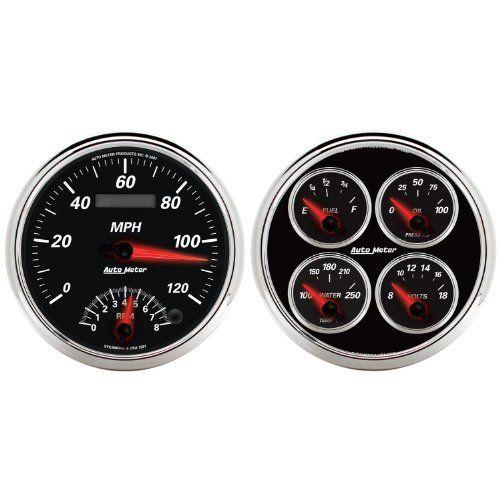 auto meter 1204 designer black ii 5 tachometer speedometer combo kit