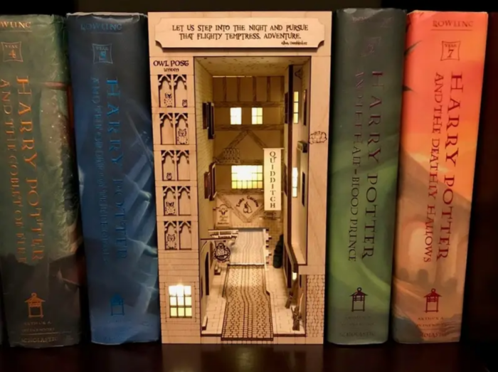 These Book Nook Shelf Inserts Turn Your Favorite Book Into A Cool Diorama Scene