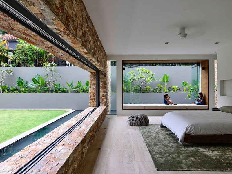 Superior This Singaporean House Completely Opens Up To The Backyard