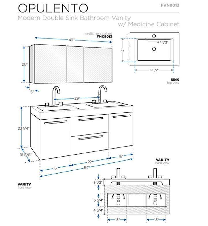 143 Reference Of Bathroom Vanity Height, Bathroom Cabinet Dimensions