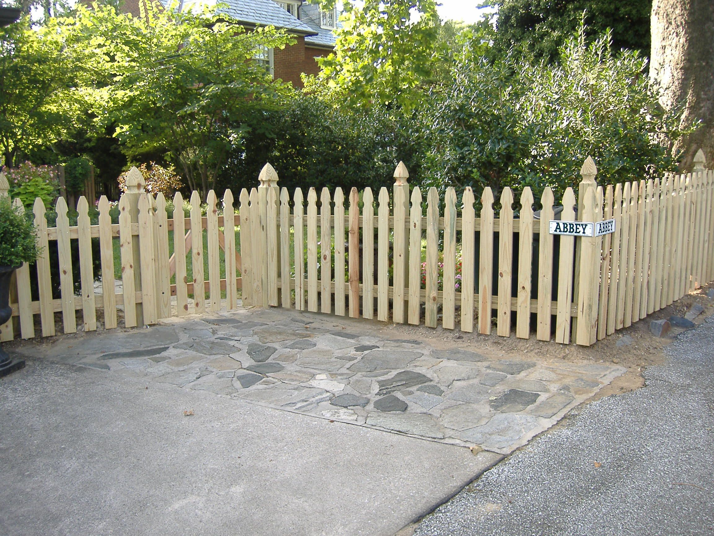 french gothic picket 2304—1728 fencing Pinterest