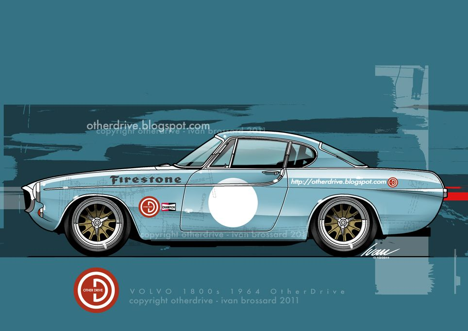 Volvo P1800 coupe racing