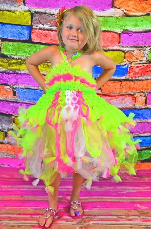 Motherfly Kisses - Welcome    Hello Kitty, Neon Tutu Dress: Made by Rachel @ Motherfly Kisses Children's Boutique    ©Motherfly Kisses Children's Boutique