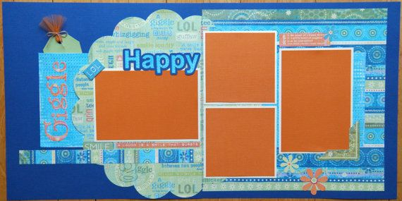 Premade Kids Scrapbook Pages Party Scrapbook Pages Sisters