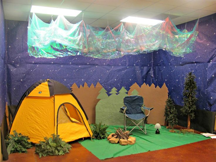 Good Vbs Camping Theme Decorating Ideas Part - 3: Everest Background Decorations | Vbs Camps, Vbs Ideas, Camps Outdoor,  Backyards Decor, · Classroom Camping ThemeClassroom ...
