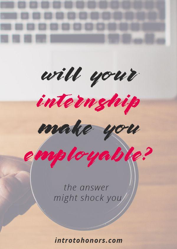 Can Your Internship Pass the Employability Test? Pinterest