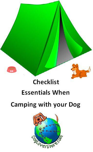 Camping Checklist Blogs Summary   DogLoverStore.com ...