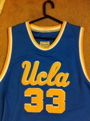 c01d8984e95 Kareem Abdul-Jabbar Hand Signed Authentic Style UCLA Blue Jersey by Head  Master Camp US