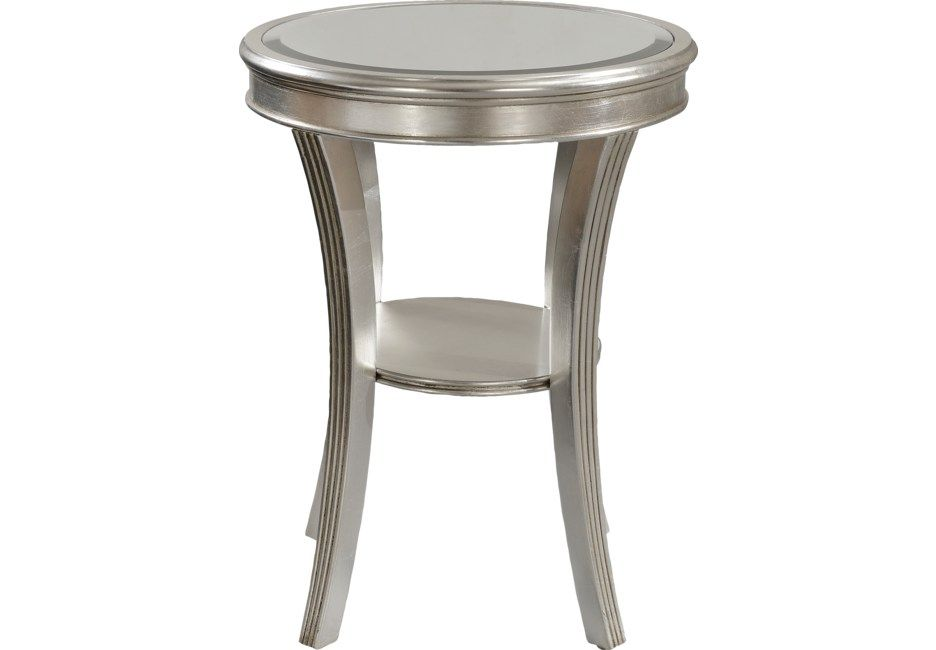 Waterbury Silver Accent Table Small Accent Tables Table Decor