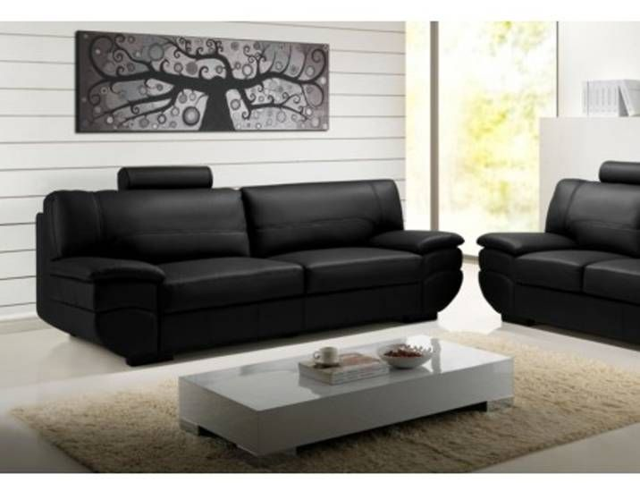 Ledersofa 3 Sitzer California Ii Schwarz Furniture Home Decor Couch