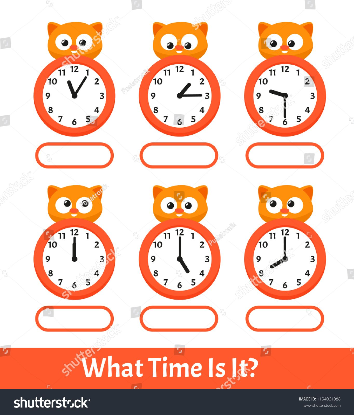 Kids Learning Exercises What Time Is It Education