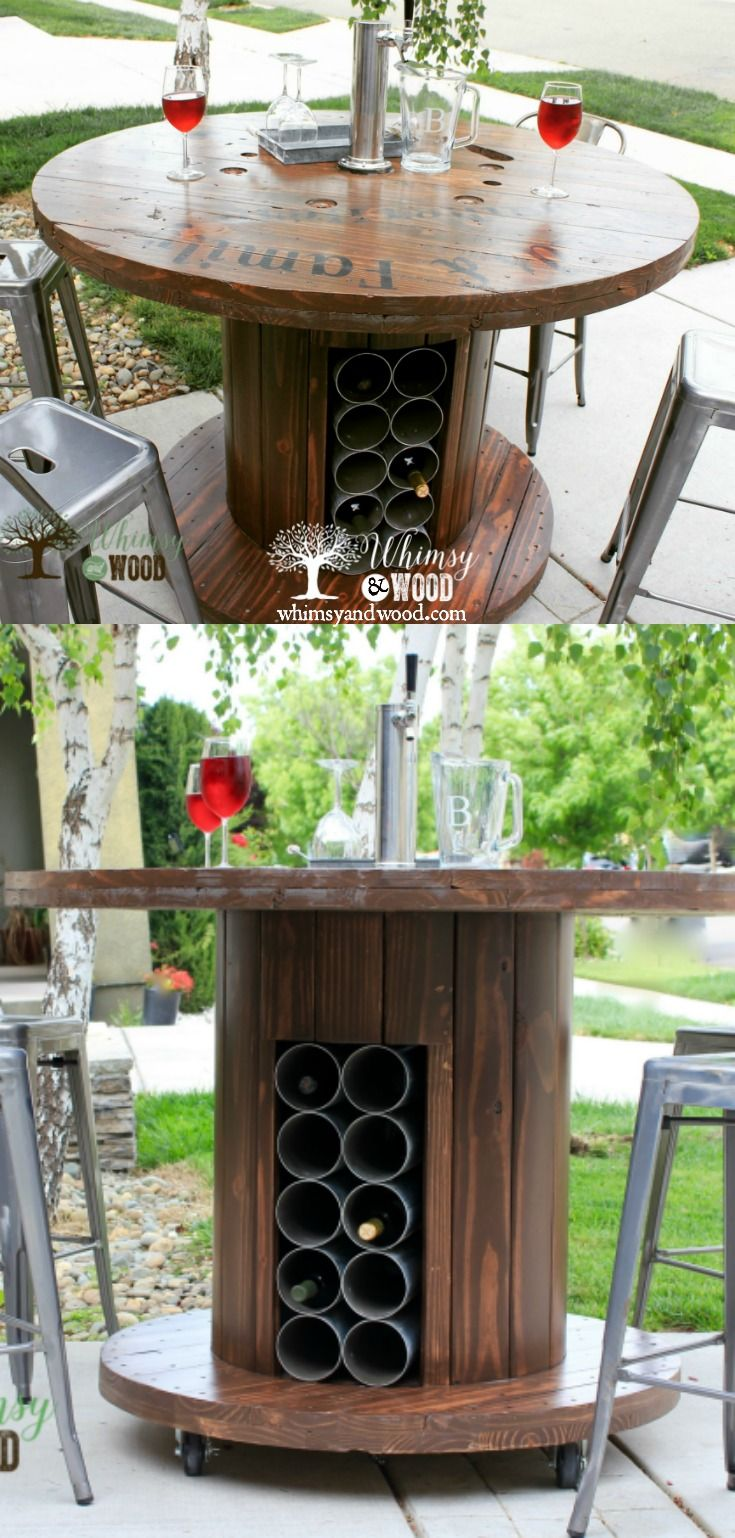 How To Make This Cable Spool Patio Set Whimsy And Wood Spool