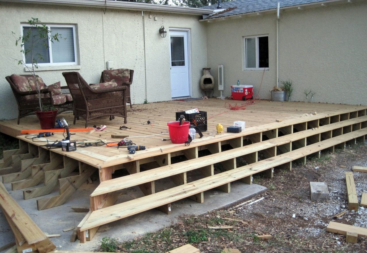 Best How To Build Wrap Around Deck Stairs Answerplane Com 640 x 480