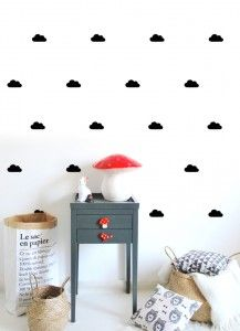 Box Stickers Nuages Noir